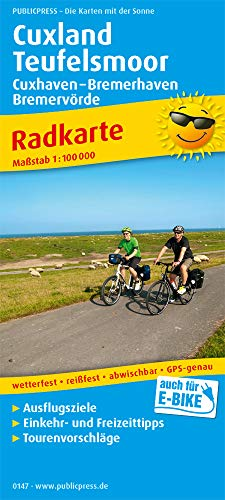 Cuxland - Teufelsmoor, Cuxhaven - Bremerhaven, Bremervörde: Radkarte mit Ausflugszielen, Einkehr- & Freizeittipps, wetterfest, reissfest, abwischbar, GPS-genau. 1:100000 (Radkarte: RK)