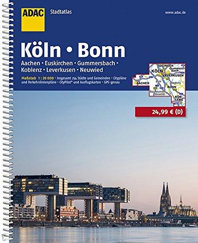 ADAC Stadtatlas Köln, Bonn 1:20 000: Aachen, Euskirchen, Gummersbach, Koblenz, Leverkusen (ADAC StadtAtlanten 1:20.000)