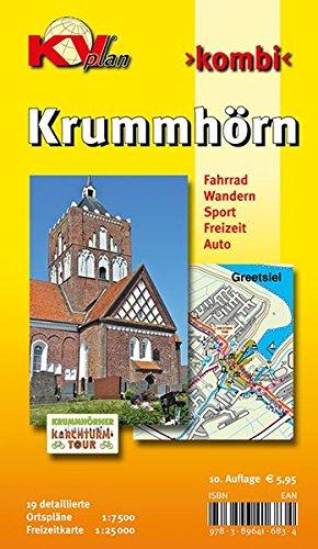 Krummhörn & Greetsiel: 19 Ortspläne der Gemeinde Krummhörn in 1:7.500 und Freitzeitkarte 1:25.000 inkl. Radrouten und Wanderwegen: 19 Ortspläne der ... und Wanderwegen (KVplan Ostfriesland-Region)