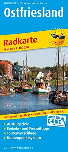 Ostfriesland: Radkarte mit Ausflugszielen, Einkehr- & Freizeittipps, reissfest, wetterfest, abwischbar. 1:100000 (Radkarte / RK)