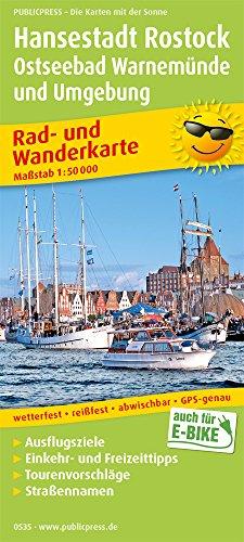 Hansestadt Rostock, Ostseebad Warnemünde: Rad- und Wanderkarte mit Ausflugszielen, Einkehr- & Freizeittipps, wetterfest, reissfest, abwischbar, GPS-genau. 1:50000 (Rad- und Wanderkarte / RuWK)