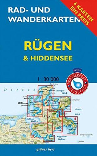 Rad- und Wanderkarten-Set: Rügen & Hiddensee: (Wasser- und reißfeste Karten): Mit den Karten:'Wittow, Kap Arkona''Halbinsel Jasmund','Bergen, ... 1:30.000. Wasser- und reißfeste Karten.