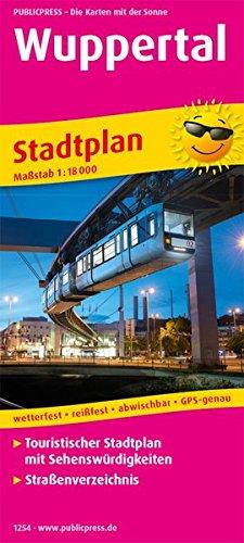 Wuppertal: Touristischer Stadtplan mit Sehenswürdigkeiten und Straßenverzeichnis. 1:18000 (Stadtplan: SP)