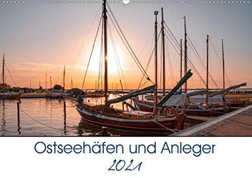 Ostseehäfen und Anleger (Wandkalender 2021 DIN A2 quer)