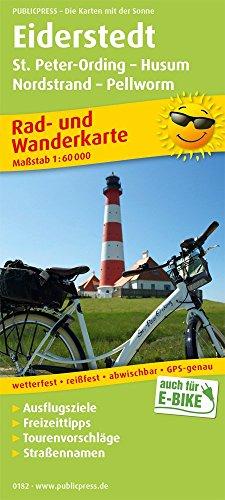 Eiderstedt, St. Peter-Ording - Husum, Nordstrand - Pellworm: Rad- und Wanderkarte mit Ausflugszielen und Freizeiteinrichtungen, wetterfest, reissfest, abwischbar. 1:60 000 (Rad- und Wanderkarte: RuWK)