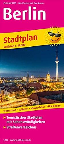 Berlin: Touristischer Stadtplan mit Sehenswürdigkeiten und Straßenverzeichnis. 1:18000 (Stadtplan: SP)