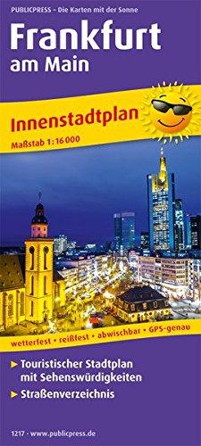 Frankfurt am Main: Touristischer Innenstadtplan mit Sehenswürdigkeiten und Straßenverzeichnis. 1:16000 (Stadtplan: SP)