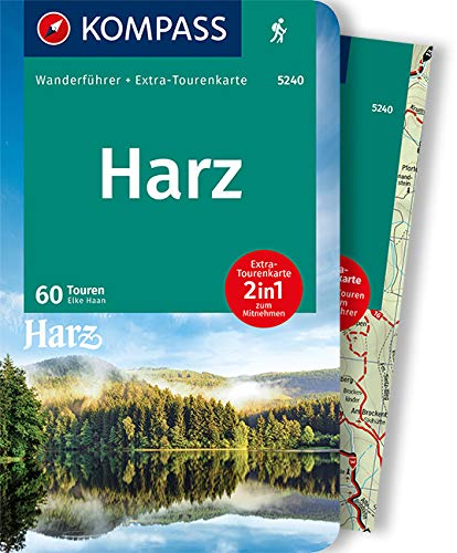 KOMPASS Wanderführer Harz: Wanderführer mit Extra-Tourenkarte 1:50.000, 60 Touren, GPX-Daten zum Download