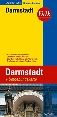 Falk Stadtplan Extra Standardfaltung Darmstadt
