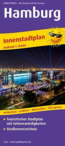 Hamburg: Touristischer Innenstadtplan mit Sehenswürdigkeiten und Straßenverzeichnis. 1:18000 (Stadtplan: SP)