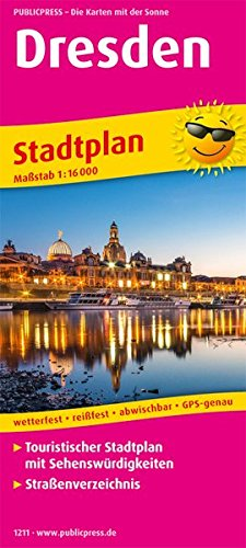 Dresden: Touristischer Stadtplan mit Sehenswürdigkeiten und Straßenverzeichnis. 1:16000 (Stadtplan / SP)