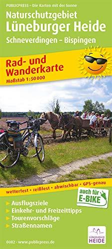 Naturschutzgebiet Lüneburger Heide, Schneverdingen - Bispingen: Rad- und Wanderkarte mit Ausflugszielen, Einkehr- & Freizeittipps, wetterfest, ... 1:50000 (Rad- und Wanderkarte: RuWK)