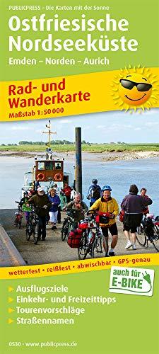 Ostfriesische Nordseeküste, Westlicher Teil: Rad- und Wanderkarte mit Ausflugszielen, Einkehr- & Freizeittipps, wetterfest, reissfest, abwischbar, GPS-genau. 1:50000 (Rad- und Wanderkarte: RuWK)
