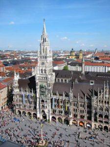Der Marienplatz in München