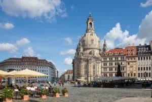 Die Dresdener Altstadt mit Frauenkirche