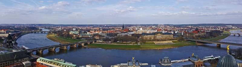 Dresden als Panorama Aufnahme