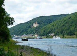 Koblenz am Rhein mit Schloss Stolzenfels