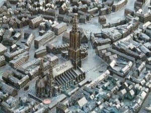 Stadtmodell des Ulmer Münsters blindengerecht