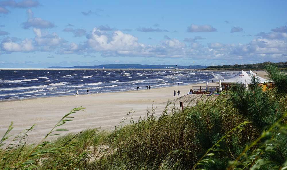 Der breiteste Strand von Usedom in Swinemünde