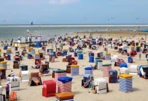 Strand der Ostfriesischen Insel Borkum