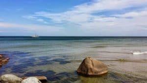 Die Insel Bornholm in der Nordsee