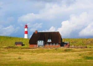 Der Leuchtturm der Insel Sylt