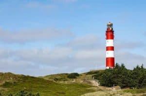 Leuchtturm auf Nordfriesische Insel Amrum