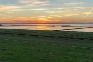 Sonnenuntergang auf der Insel Nordstrand