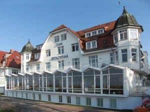 Warnemünde hat wunderschöne kleine Hotels in Bäderachitektur