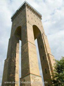 Der Finower Wasserturm - Nahe des Treidelweges zu besichtigen