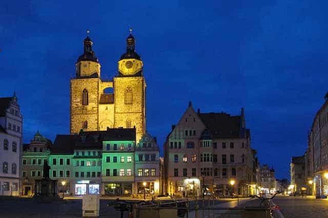 Wittenberg bei Nacht