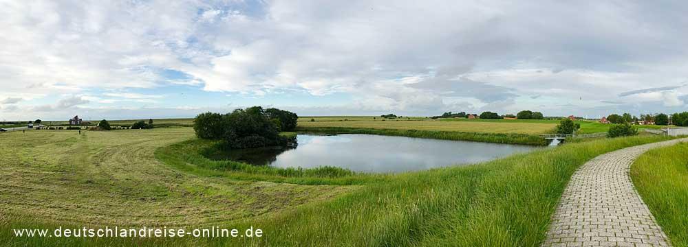 Nessmersiel Drachenwiese Polderschlott © Deutschlandreise