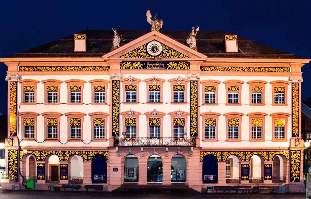Altes Rathaus in Gengenbach zur Adventszeit