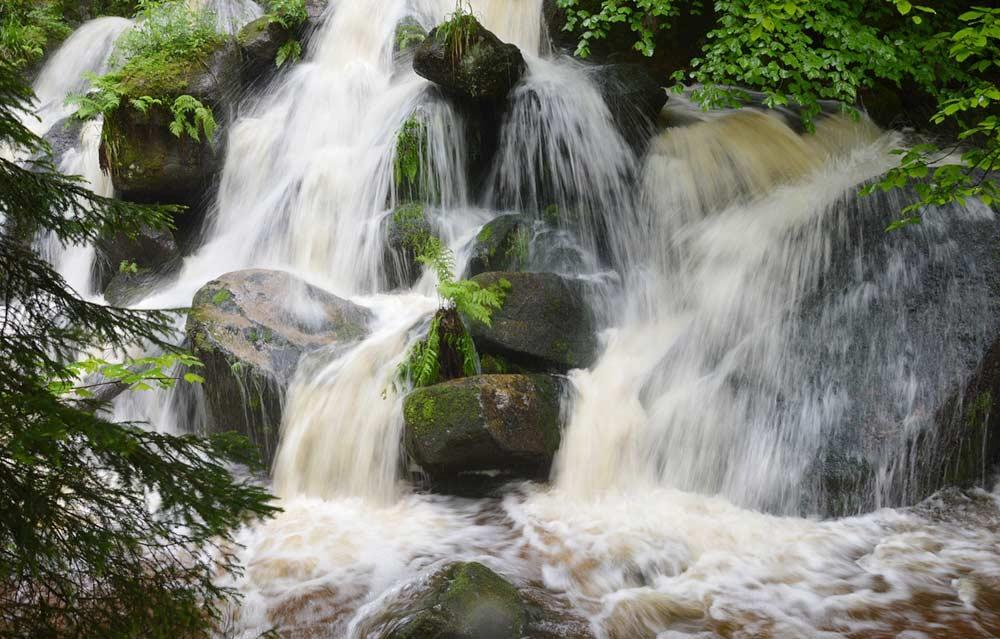 Die Gertelbach-Wasserfälle im Schwarzwald